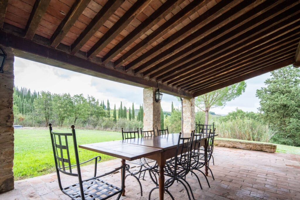 Outdoor gazebo with panoramic view and garden - Bibbiano - I Sodi Apartment