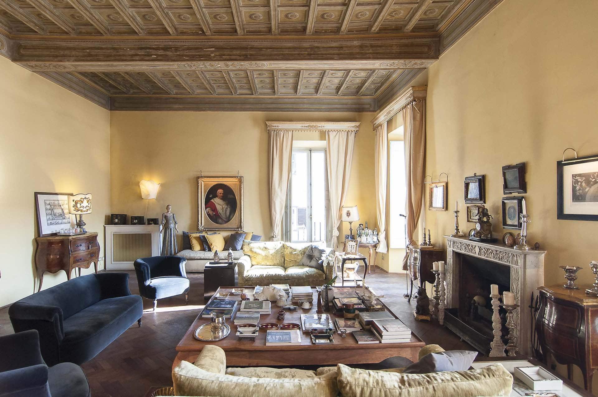 spacious living room - Timeless Rome Villa