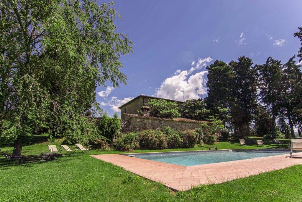 Swimming Pool with panoramic view - Bibbiano - I Sodi Apartment
